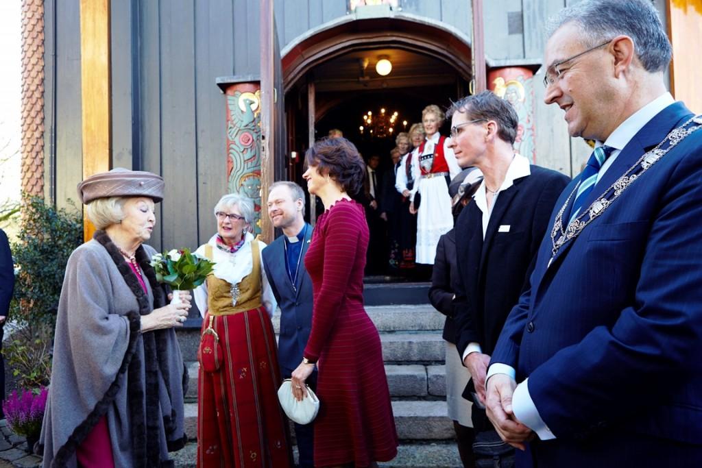 Halvor Johnsen bij het 100-jarig jubileum van de Noorse zeemanskerk