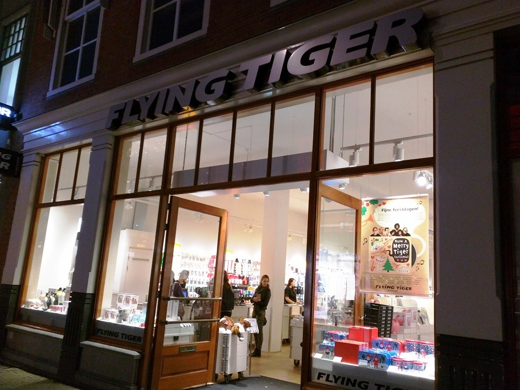 Deense winkelketen Flying Tiger in Den Haag