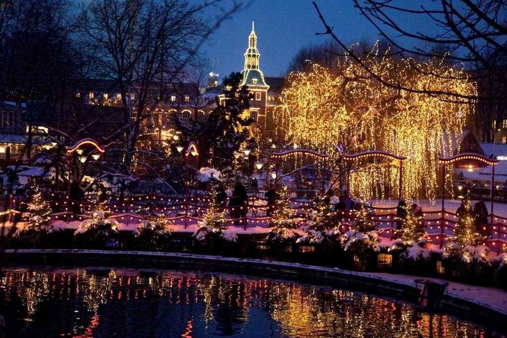 Kerst in Tivoli, Kopenhagen, Denemarken