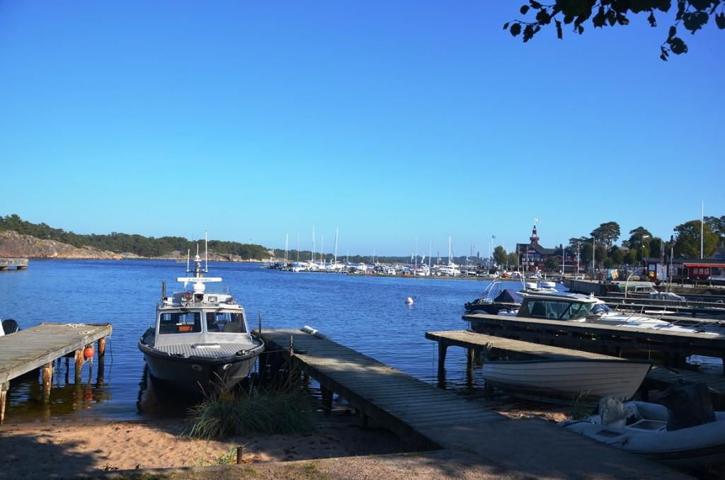 De jachthaven van Sandhamn